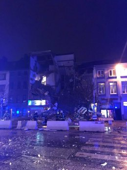 Edificio derrumbado en Amberes por una explosión accidental