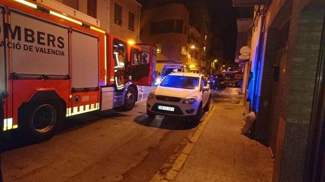 Incendio en una residencia de Alfara