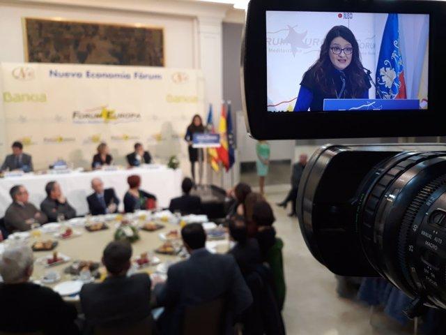 Intervención de Mónica Oltra en el Fórum Nueva Economía