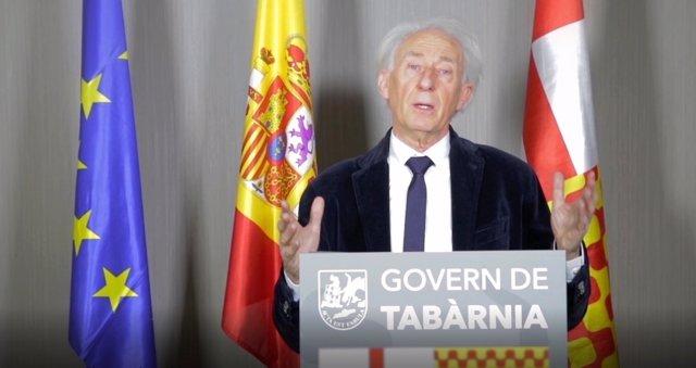 El actor Boadella en un video: presidente imaginario de Tabarnia en el exilio