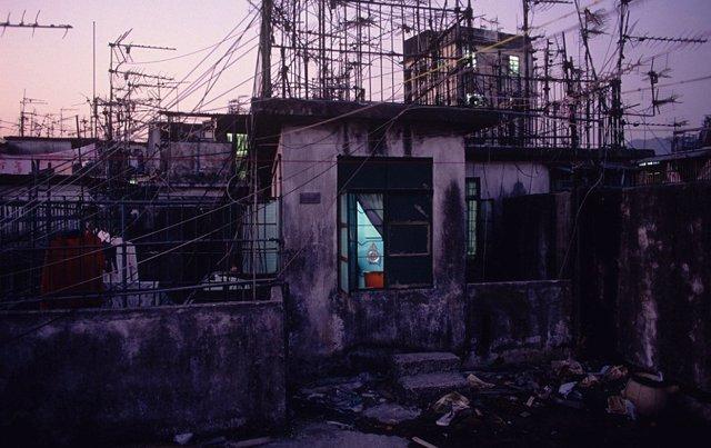 Azotea de uno de los bloques de pisos de Kowloon (Fuente: franceculture.fr)
