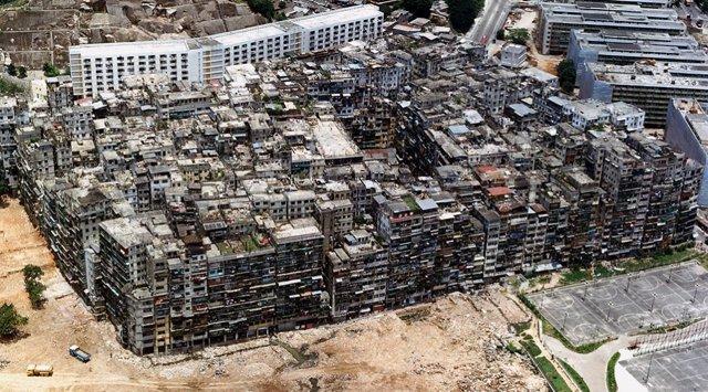 Foto aérea de los edificios de Kowloon (Fuente: clarin.com)