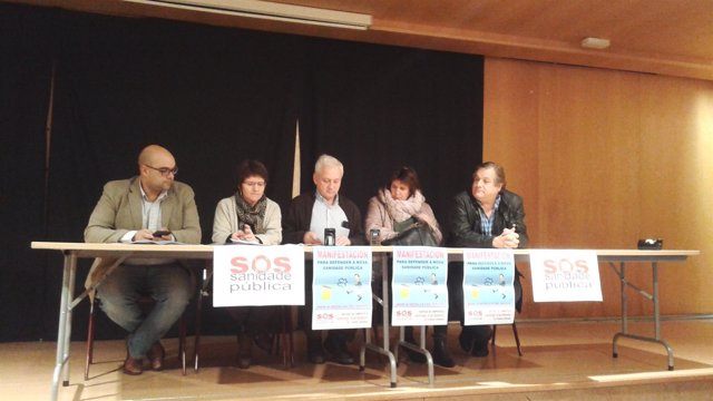 Rueda de prensa de SOS Sanidade Pública