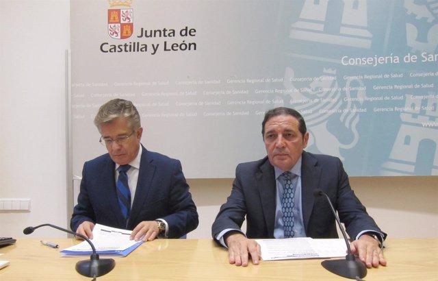 Sáez Aguado (d) con López Iglesias (i)