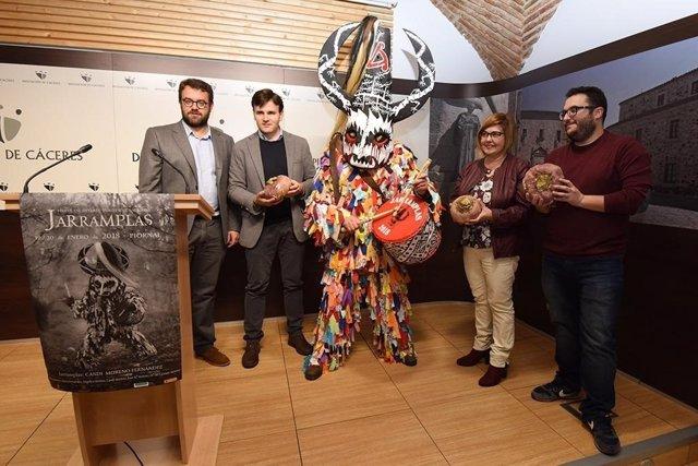 Presentación de la fiesta de Jarramplas de Piornal (Cáceres)