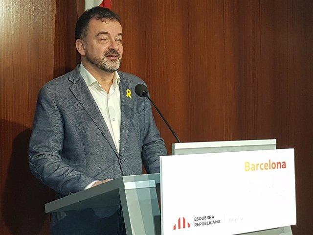 El líder de ERC en Barcelona, Alfred Bosch