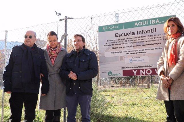 Nota De Prensa, Audios Y Fotos: Almeida Visita El Solar De Unas De Las Escuelas