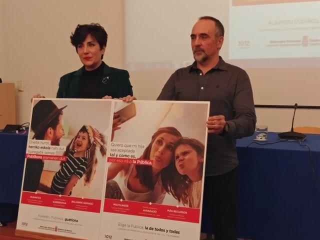 La consejera María Solana, y el director general de Educación, Roberto Pérez