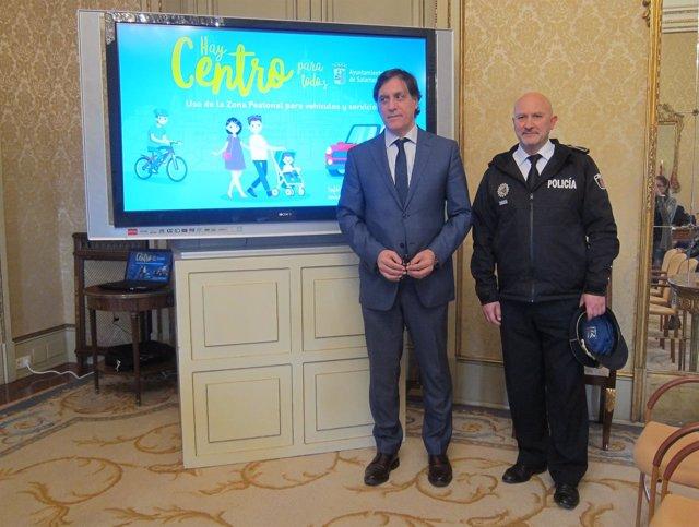 Presentación de la iniciativa para controlar vehículos en Salamanca
