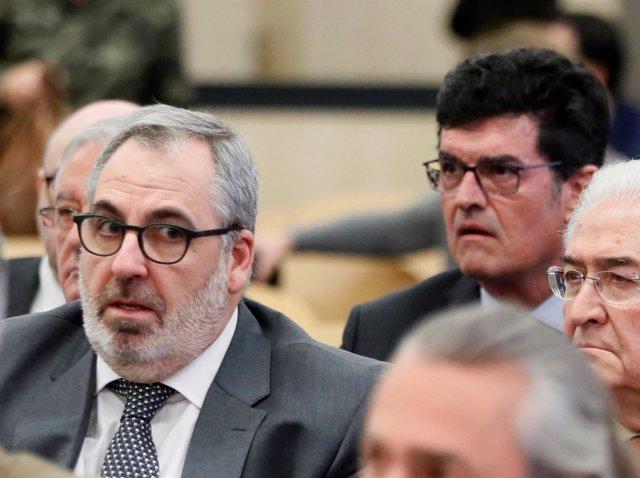Los empresarios Vicente Cotino y Enrique Gimeno en el juicio por Gürtel