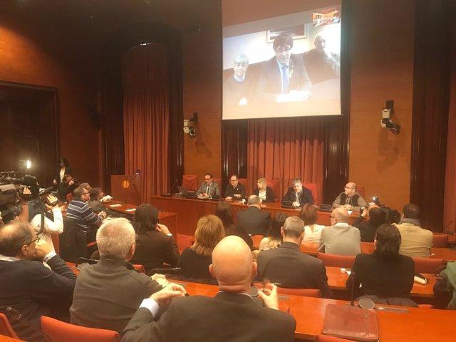 Reunión de JuntsxCat con Carles Puigdemont