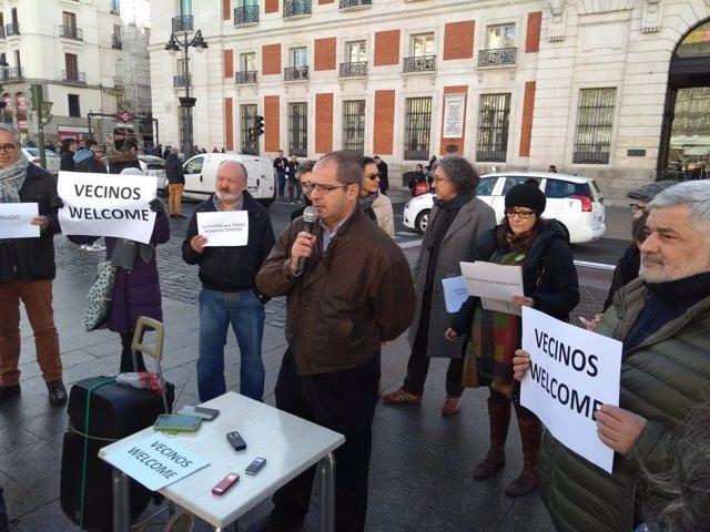 Colectivos sociales y vecinales en rueda de prensa