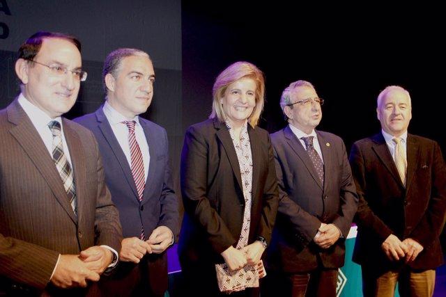 Báñez junto a Bendodo, González de Lara y Narváez. Plan Primera Oportunidad