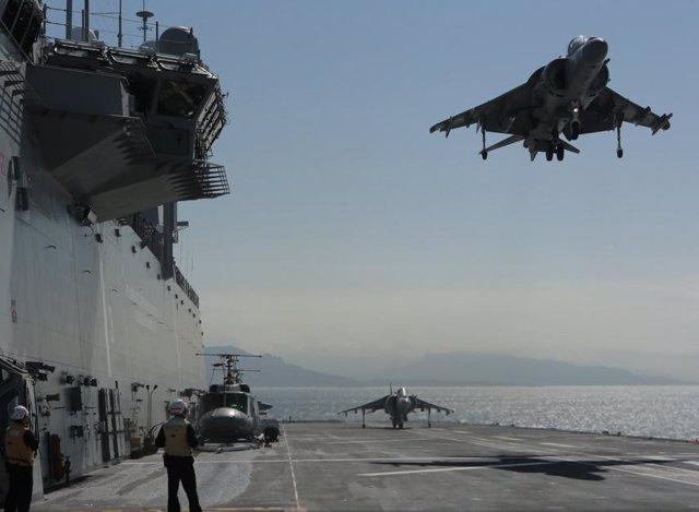 Ejercicio de la Armada en el Juan Calos I