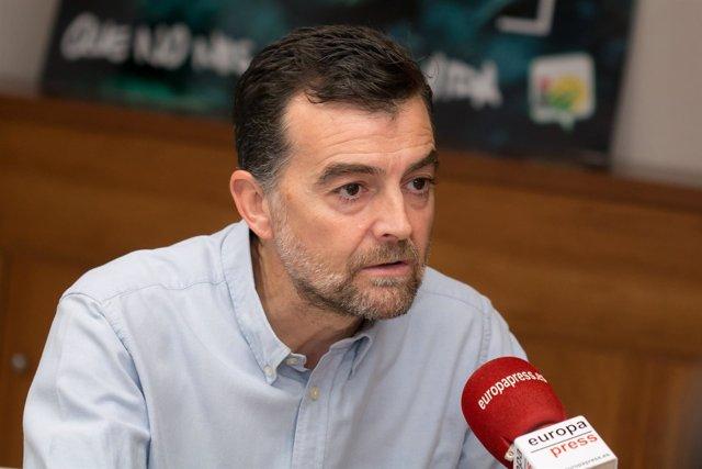 Antonio Maíllo durante la entrevista