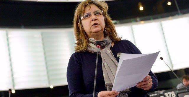 La diputada de IU en el Parlamento Europeo Paloma López