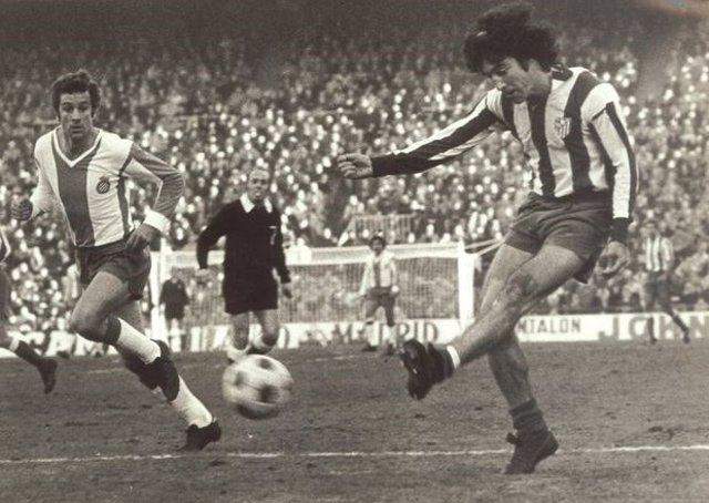 Panadero Díaz jugando con el Atlético de Madrid