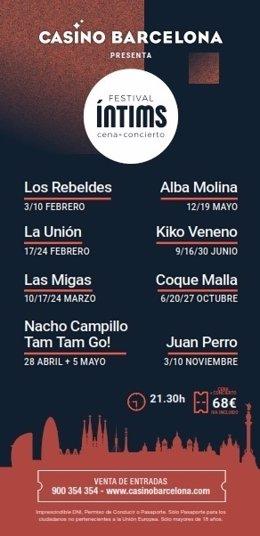 El Festival Íntims tendrá a La Unión, Los Rebeldes, Kiko Veneno, Coque Malla