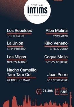 El Festival Íntims tindrà La Unión, Los Rebeldes, Kiko Veneno, Coque Malla i Juan Perro (CASINO DE BARCELONA)