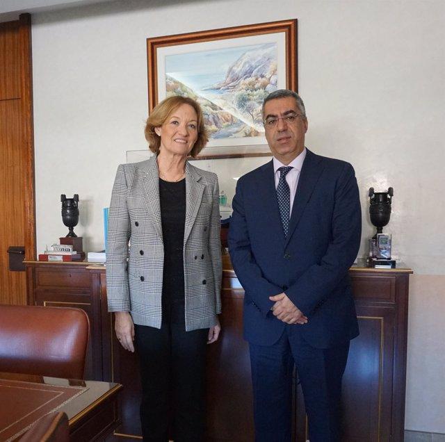 La presidenta de la APA y el cónsul de Marruecos