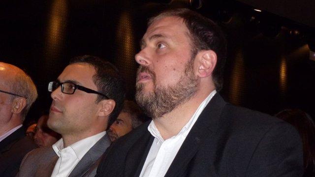 Núm.1 de ERC por Girona Roger Torrent y Oriol Junqueras