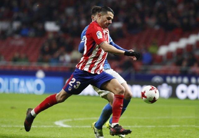 Vitolo en la eliminatoria de Copa ante el Lleida