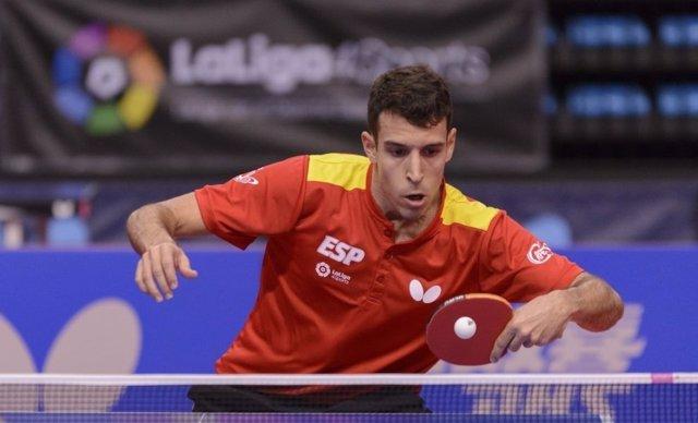 Álvaro Robles, jugador español de tenis de mesa