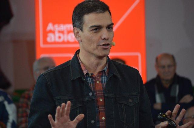 Pedro Sánchez en León