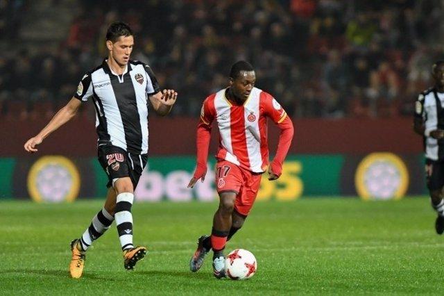 Marlos Moreno en su etapa como jugador del Girona
