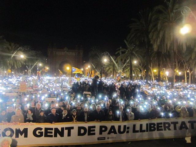 Manifestación por la libertad de los presos independentistas