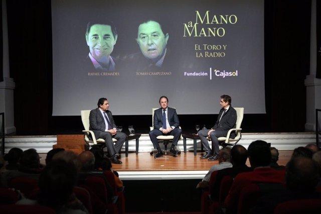 Tomás Campuzano y Rafael Cremades en 'Mano a mano' de Cajasol