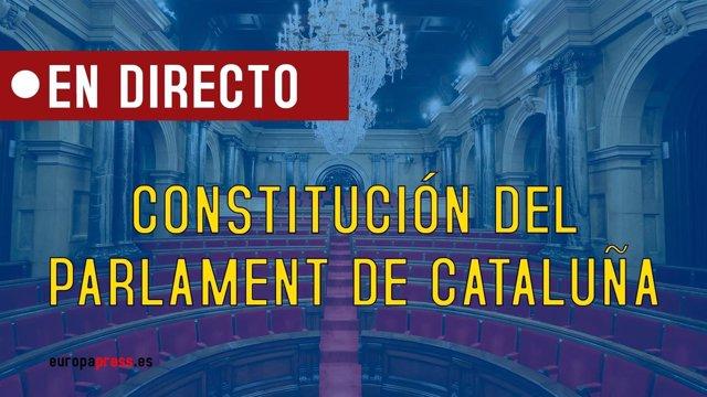 Constitución del Parlament de Cataluña