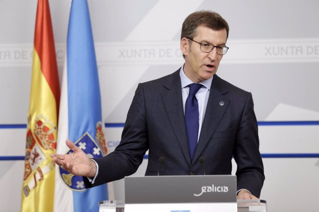 Alberto Núñez Feijóo tras el Consello de la Xunta