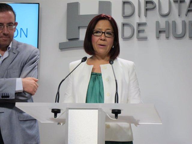 La alcaldesa de Punta Umbría, Aurora Águedo.