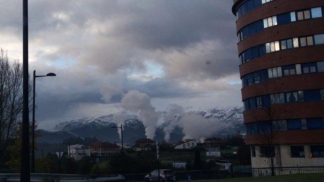 Contaminación, Humo, Central Térmica de Soto de Ribera