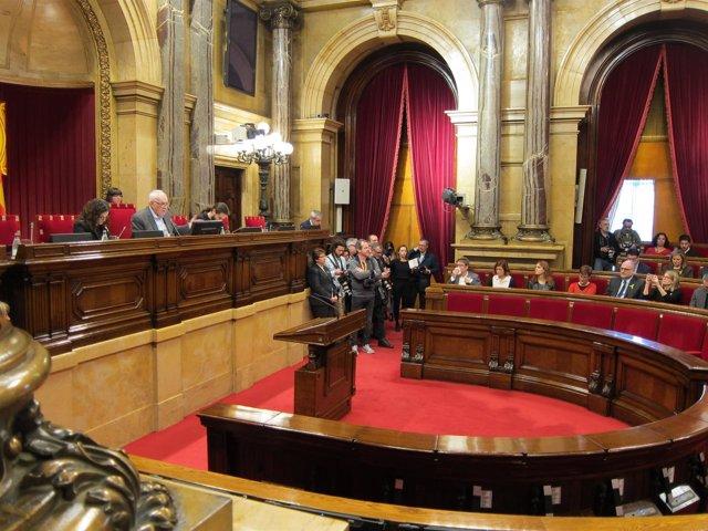 Mesa de Edad del Parlament de la XII Legislatura: Maragall,Ribas,Gómez del Moral