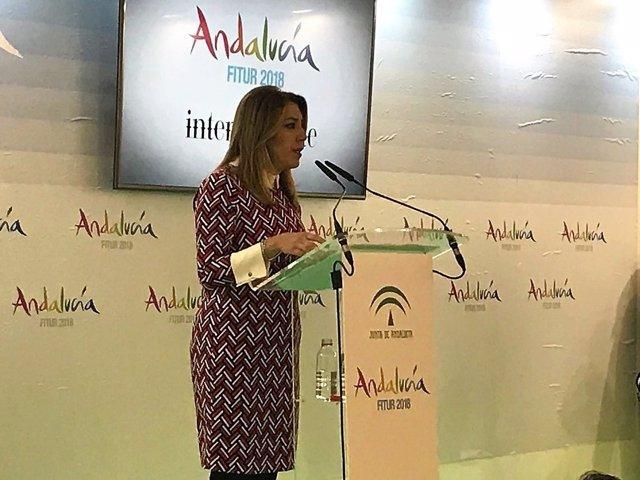 Susana Díaz, en Fitur 2018