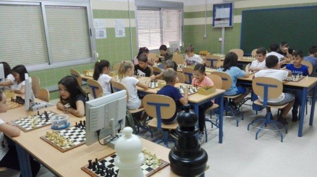 Clase de ajedrez en tercero de Primaria.