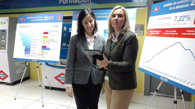 Rosalía Gonzalo en las instalaciones de Metro