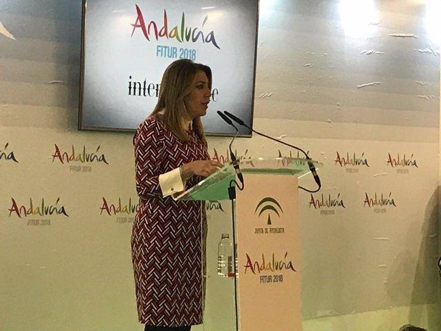 La presidenta de la Junta, Susana Díaz, en Fitur