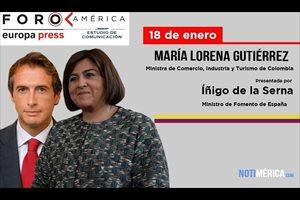 La ministra de Comercio, Industria y Turismo de Colombia interviene mañana jueves día 18 en el Foro América