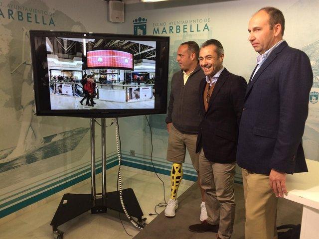 Promoción de la Copa Davis en Marbella