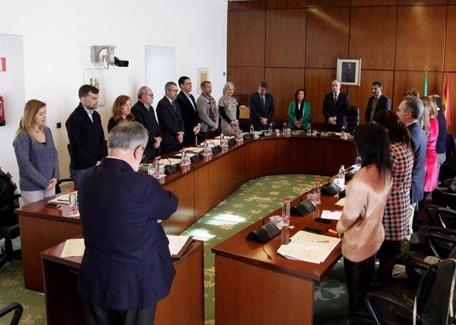 La Diputación Permanente del Parlamento andaluz reunida este miércoles