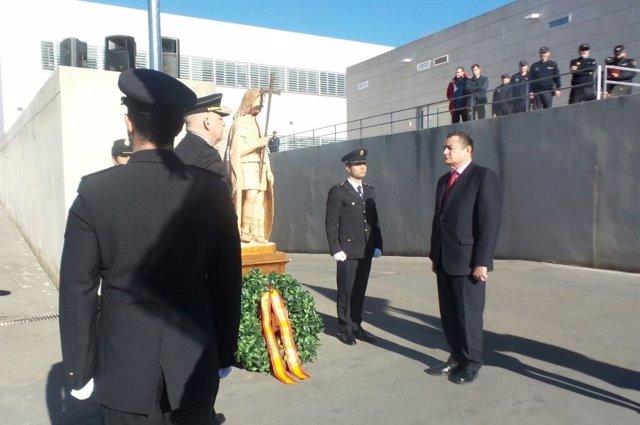 Antonio Sanz, en los actos conmemorativos de la creación de la Policía Nacional
