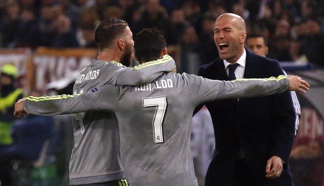 Zidane, Ramos y Cristiano Ronaldo