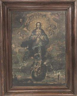 Óleo de la Inmaculada del Monasterio de Sijena extraviado en Lleida