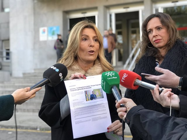 La parlamentaria Eva Martín y la concejal Rocío Díaz, del PP