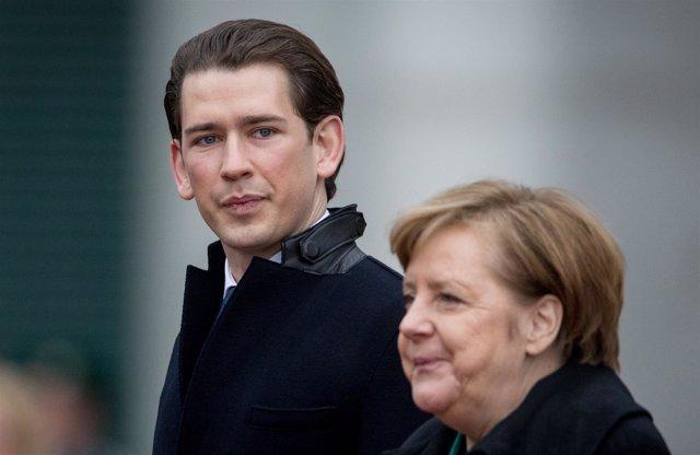 Angela Merkel y Sebastian Kurz
