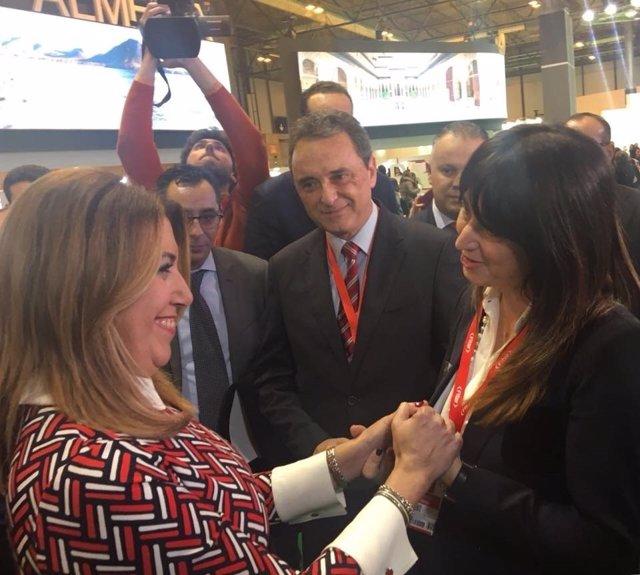 José Ortiz alcalde de Torremolinos en fitur 2018 susana díaz