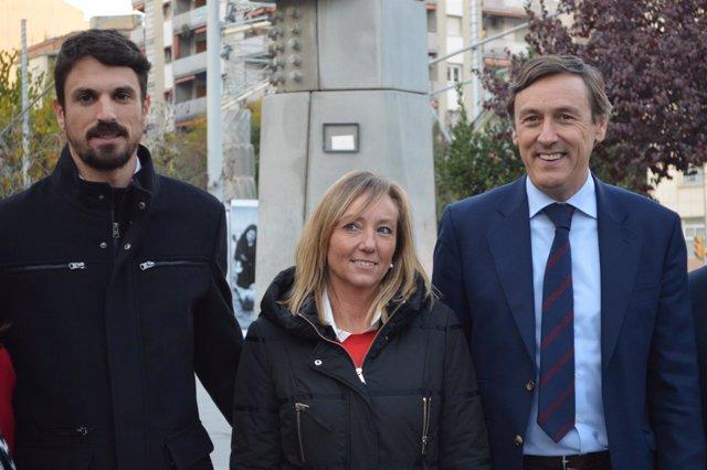 Dante Pérez, Marisa Xandri y Rafael Hernando en la campaña del 21D